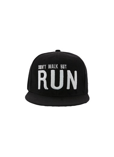 Laslusa Don't Walk But Run Hip Hop Snapback Şapka Siyah